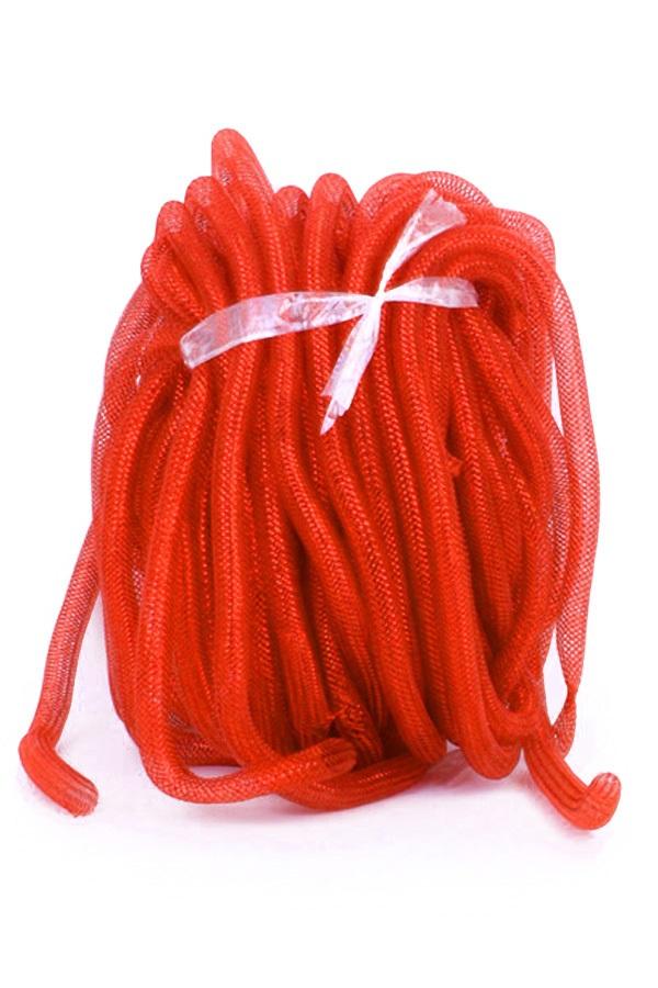 Decoratie tube rood Ø16 mm per 2,5 meter in zakje 1