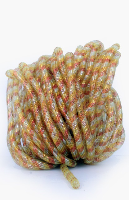 Decoslang tube op rol rood/wit/geel Ø16 mm 1