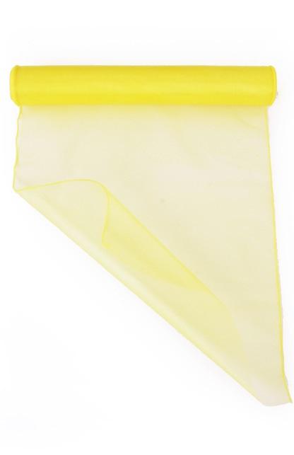 Organza geel 32 cm x 9 meter 1