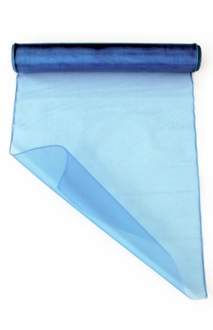 Organza baby blauw 32 cm x 9 meter 1
