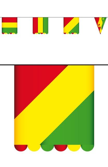 Vlaggenlijn karton rd/gl/gr 3 mtr dubbelz vlag 16×13 cm  1