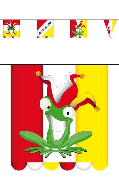Vlaggenlijn karton oeteldonk 3 mtr dubbelz vlag 16×13  1