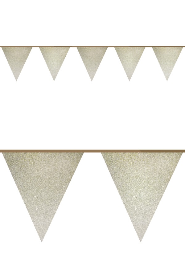 Glitter vlaggenlijn GOUD 6 mtr 1