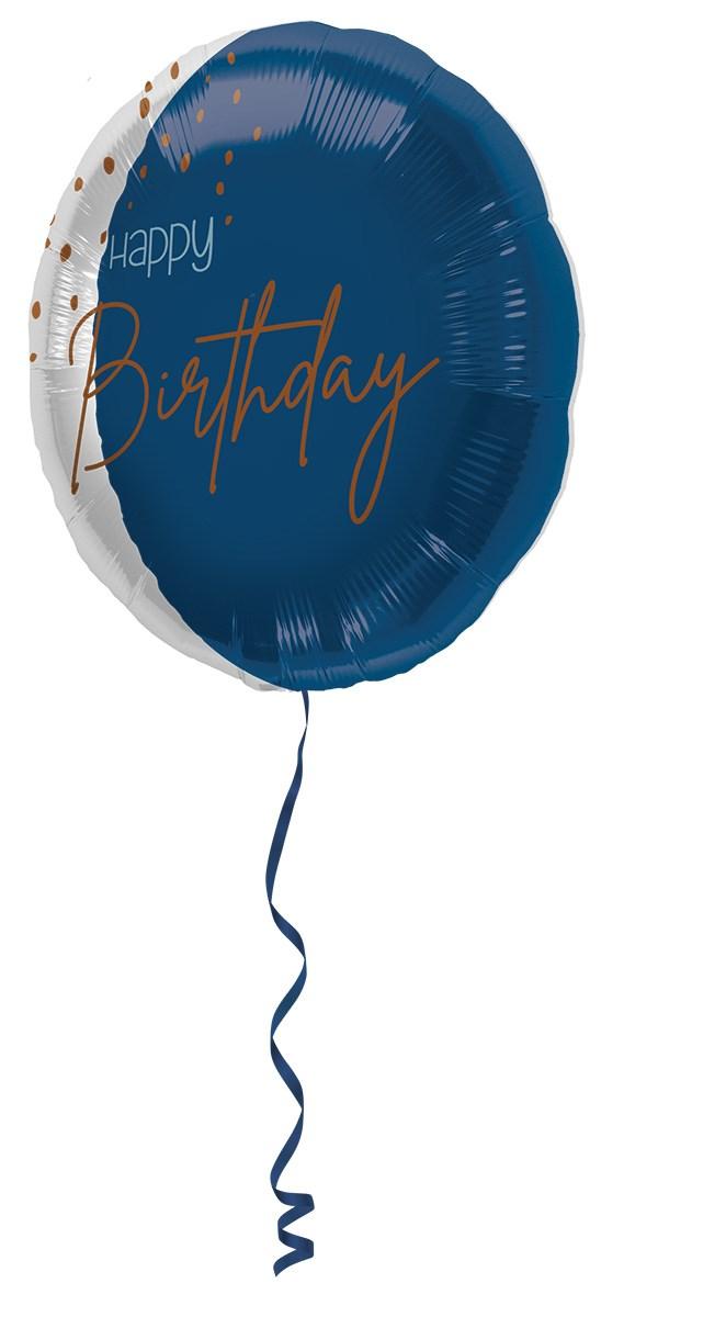 18in/45cm transparent/elegant true blue Happy Birthday 1