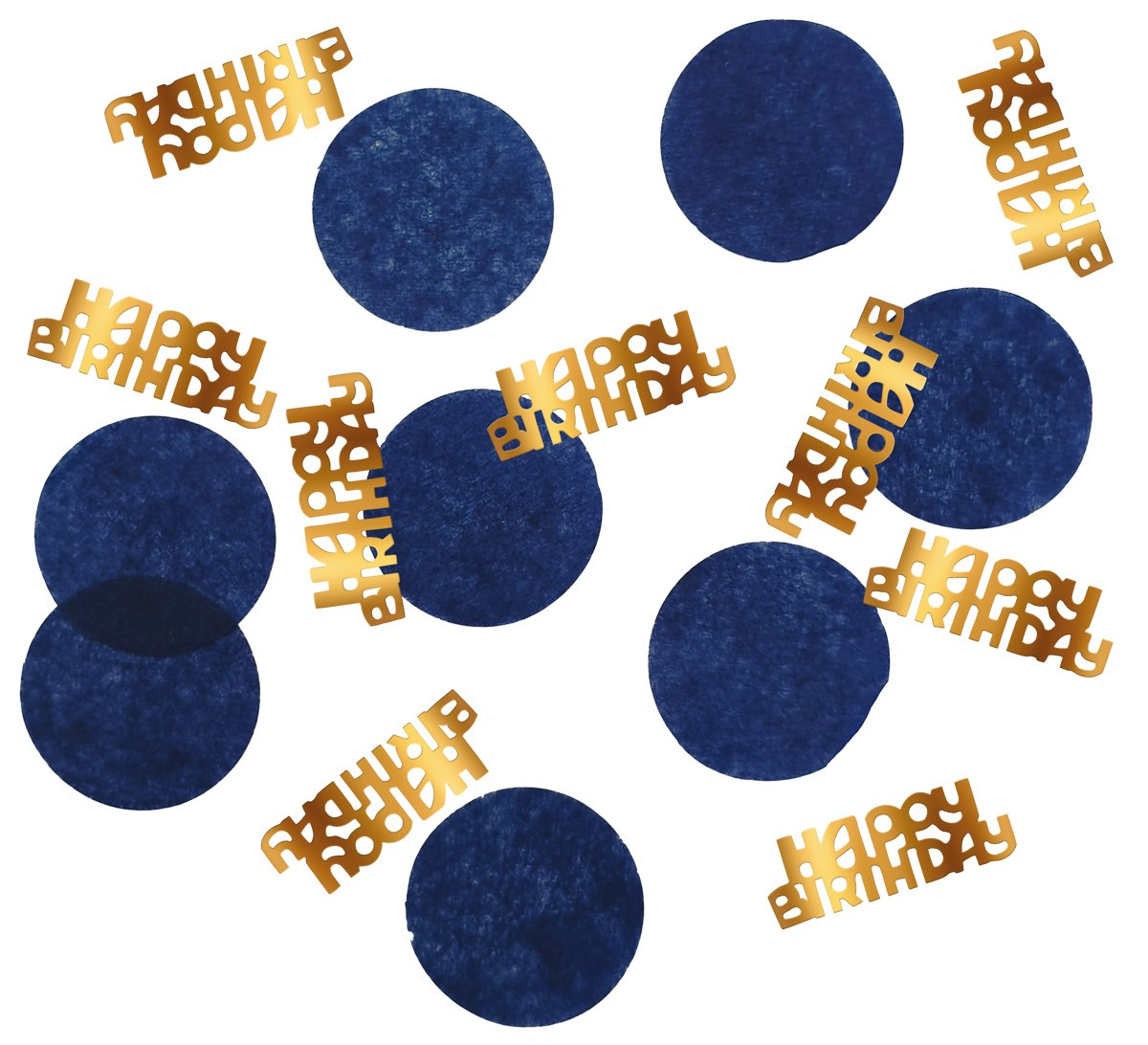 Tabledeco/confetti Happy Birthday Elegant True Blue 25gr 1