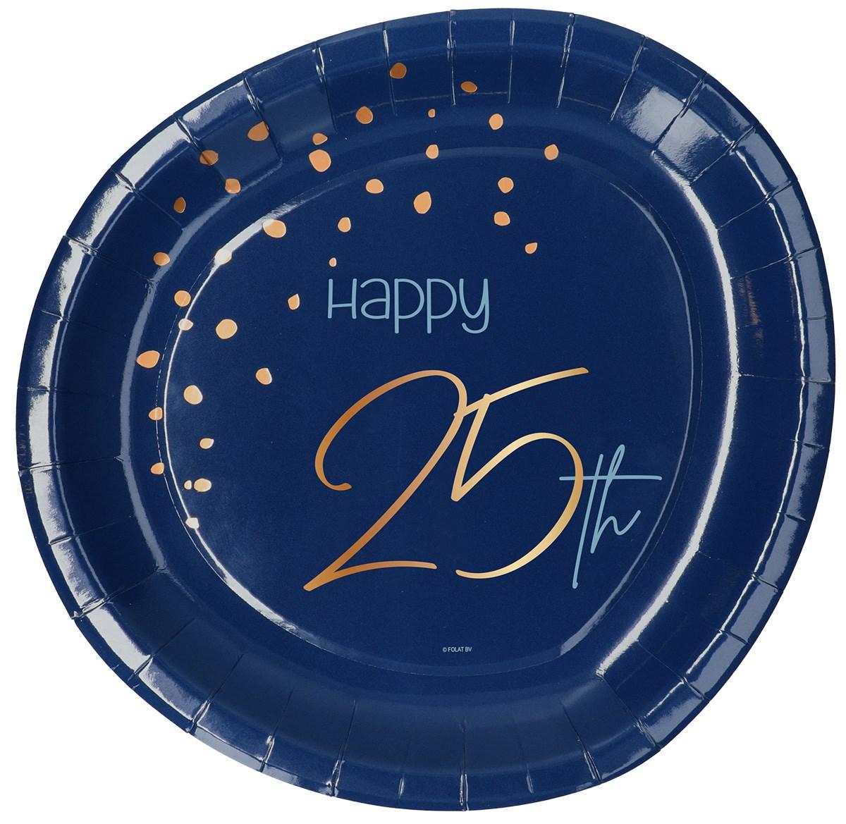 Plates Elegant True Blue 25 Year 23cm /8 1