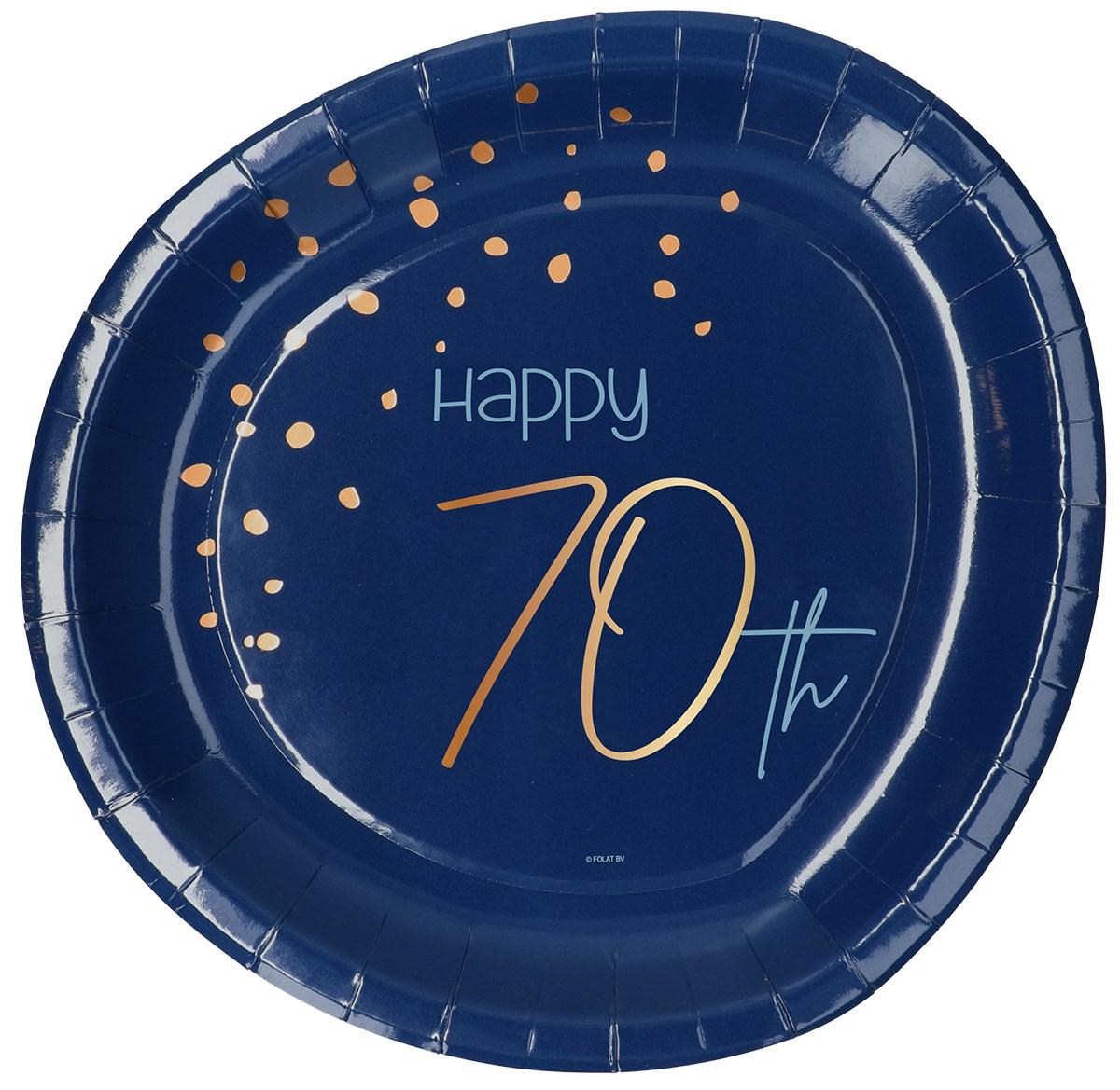 Plates Elegant True Blue 70 Year 23cm /8 1