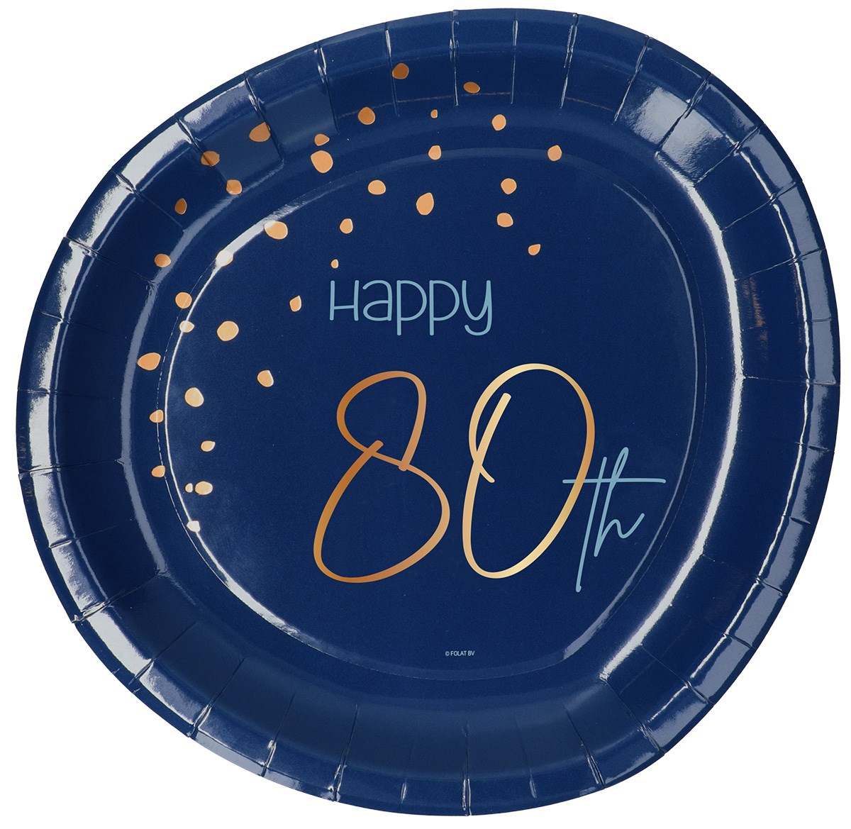 Plates Elegant True Blue 80 Year 23cm /8 1