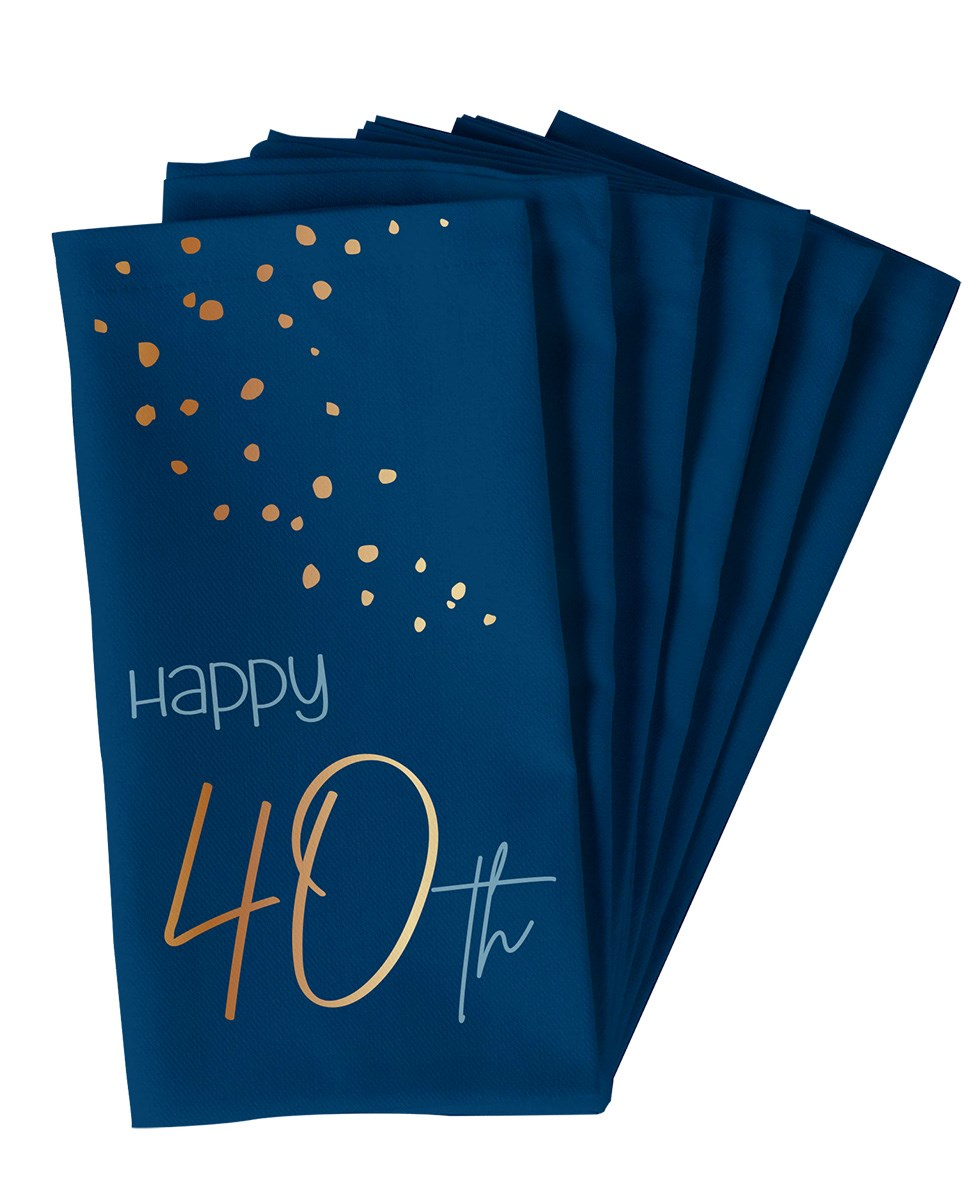 Napkins Elegant True Blue 40 Year 33x33cm /10 1