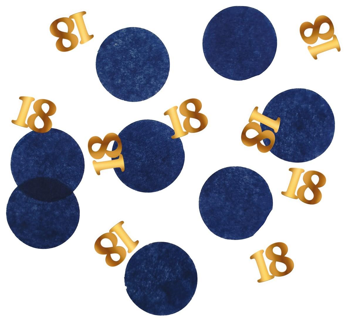Tabledeco/confetti 18 Year Elegant True Blue 25gr 1