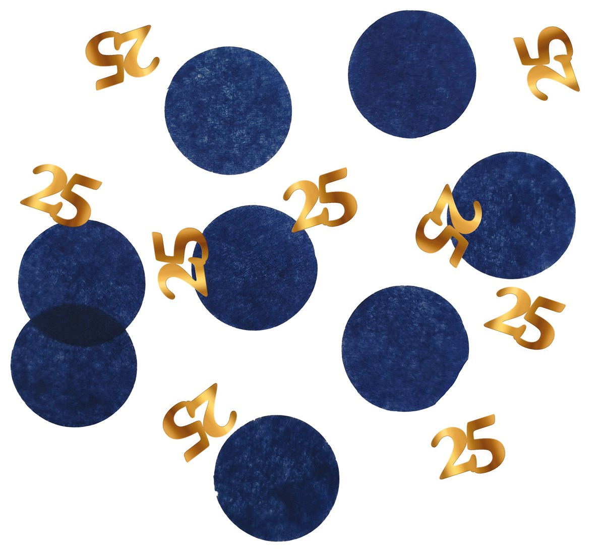 Tabledeco/confetti 25 Year Elegant True Blue 25gr 1