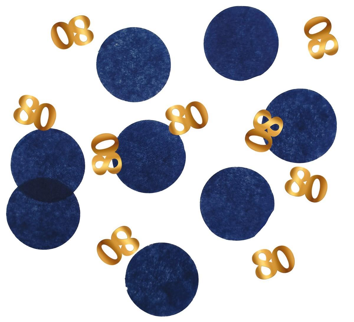 Tabledeco/confetti 80 Year Elegant True Blue 25gr 1