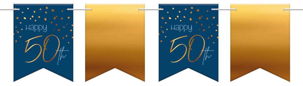 Flagbanner Elegant True Blue 50 Year 6m 1