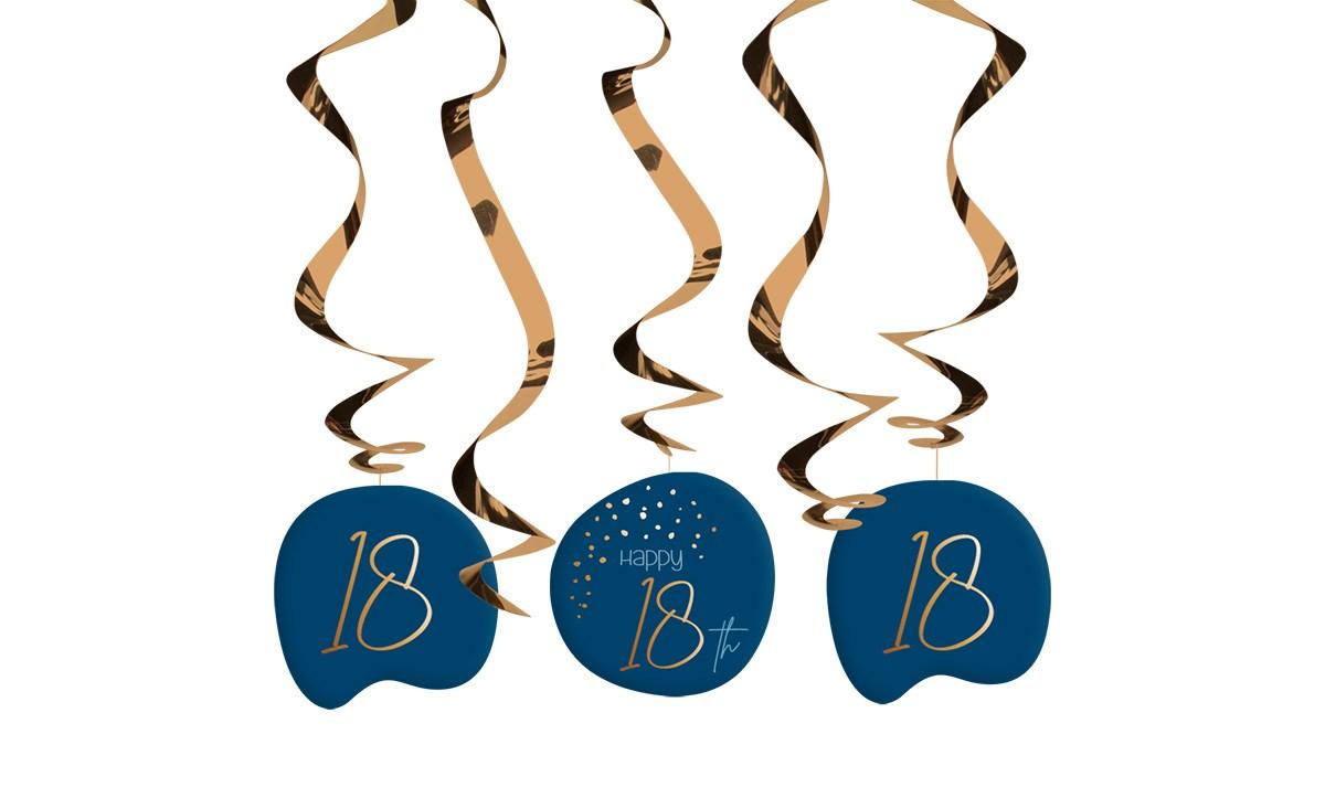 Swirl Garland Elegant True Blue 18 Year /5 1