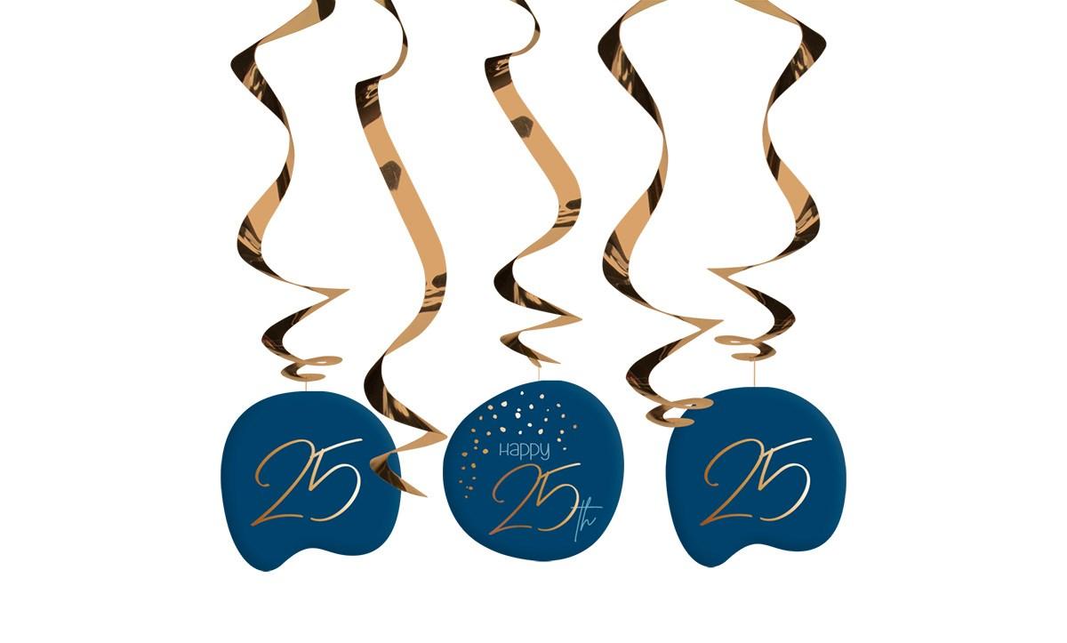 Swirl Garland Elegant True Blue 25 Year /5 1