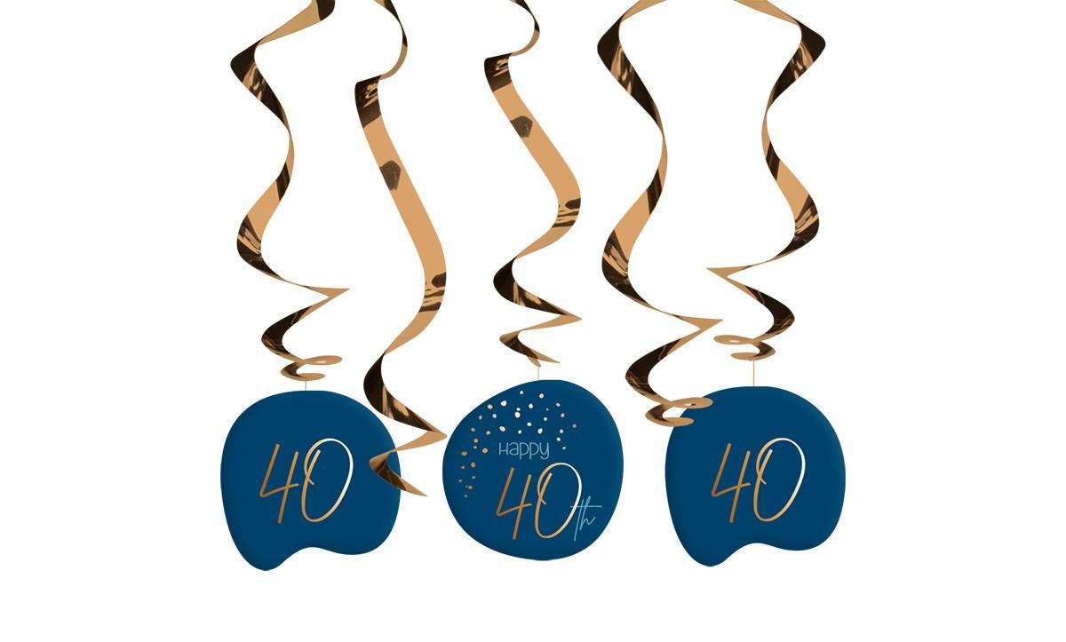 Swirl Garland Elegant True Blue 40 Year /5 1