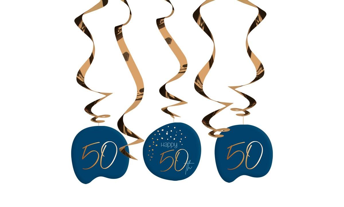 Swirl Garland Elegant True Blue 50 Year /5 1