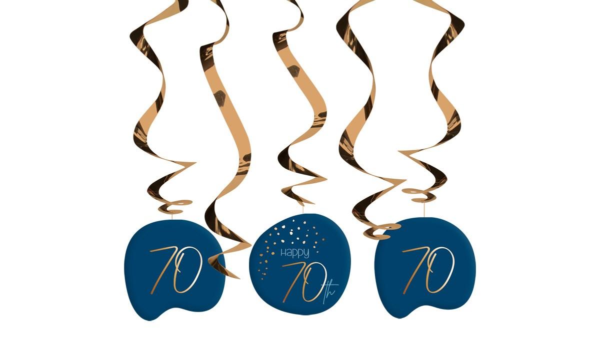 Swirl Garland Elegant True Blue 70 Year /5 1