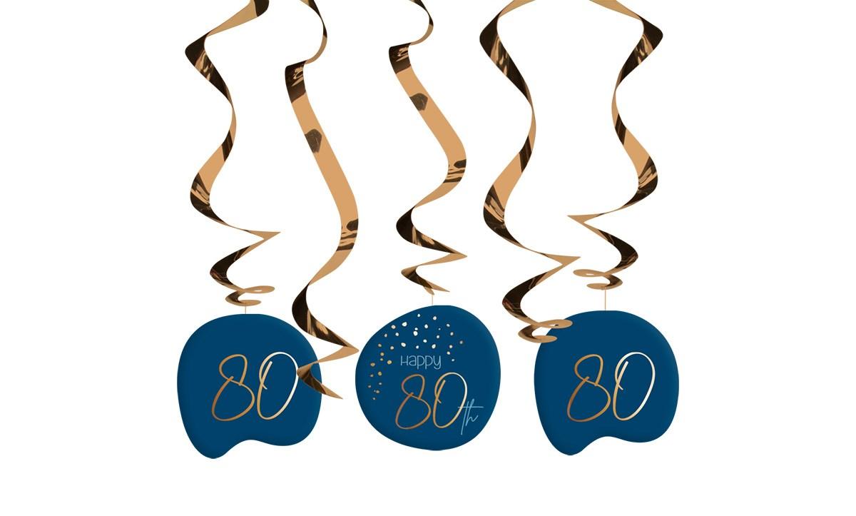 Swirl Garland Elegant True Blue 80 Year /5 1