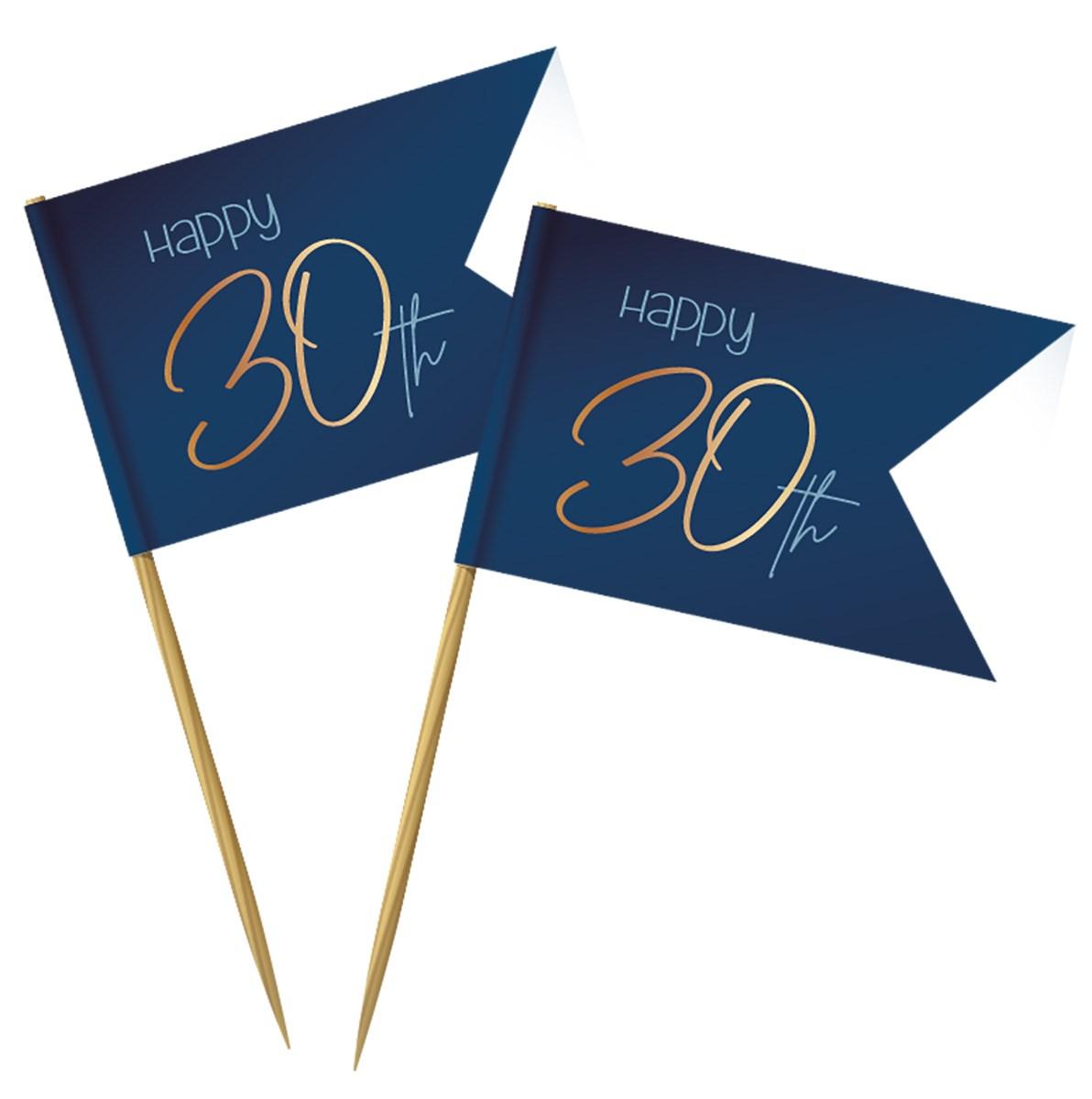 Cocktail Picks Elegant True Blue 30 Year /36 1