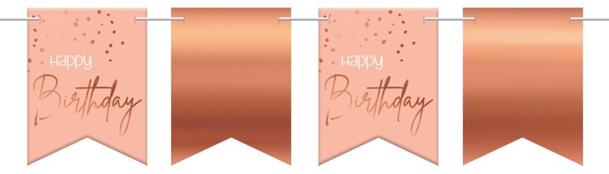 Flagbanner Elegant Lush Blush Happy Birthday 6m 1