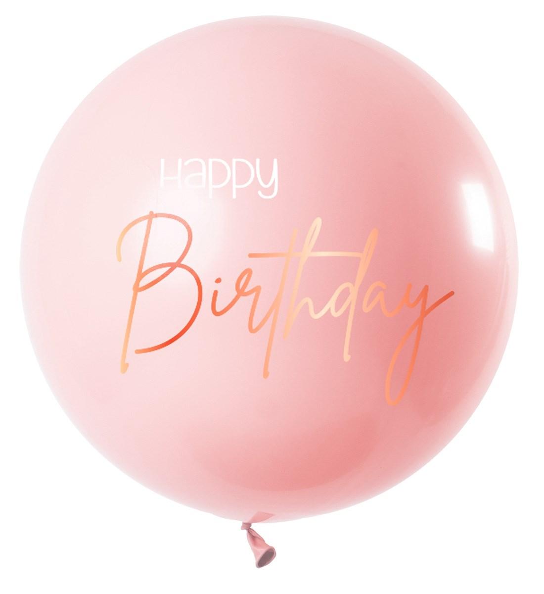 Fltx 31In/80cm Elegant Lush Blush Happy Birthday  1