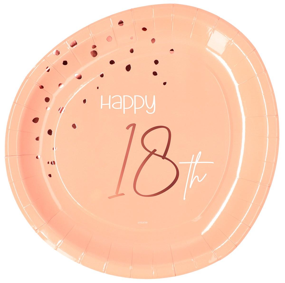 Plates Elegant Lush Blush 18 Year 23cm /8 1