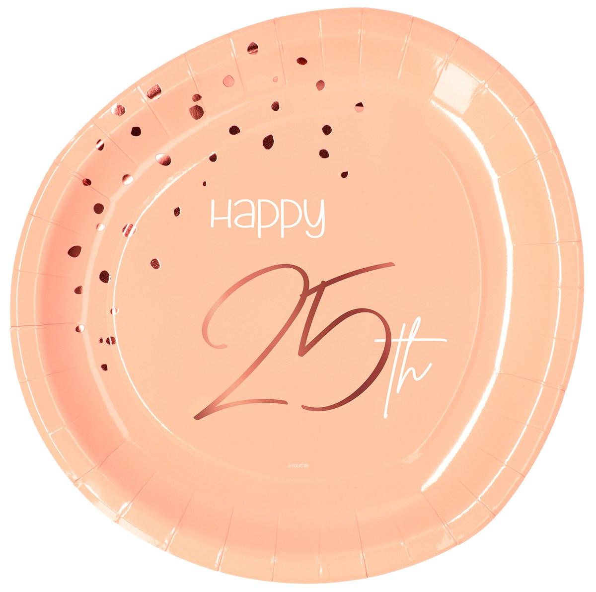 Plates Elegant Lush Blush 25 Year 23cm /8 1