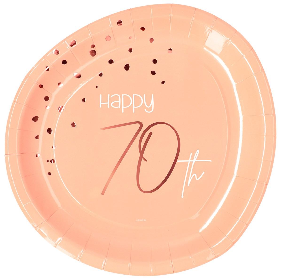 Plates Elegant Lush Blush 70 Year 23cm /8 1
