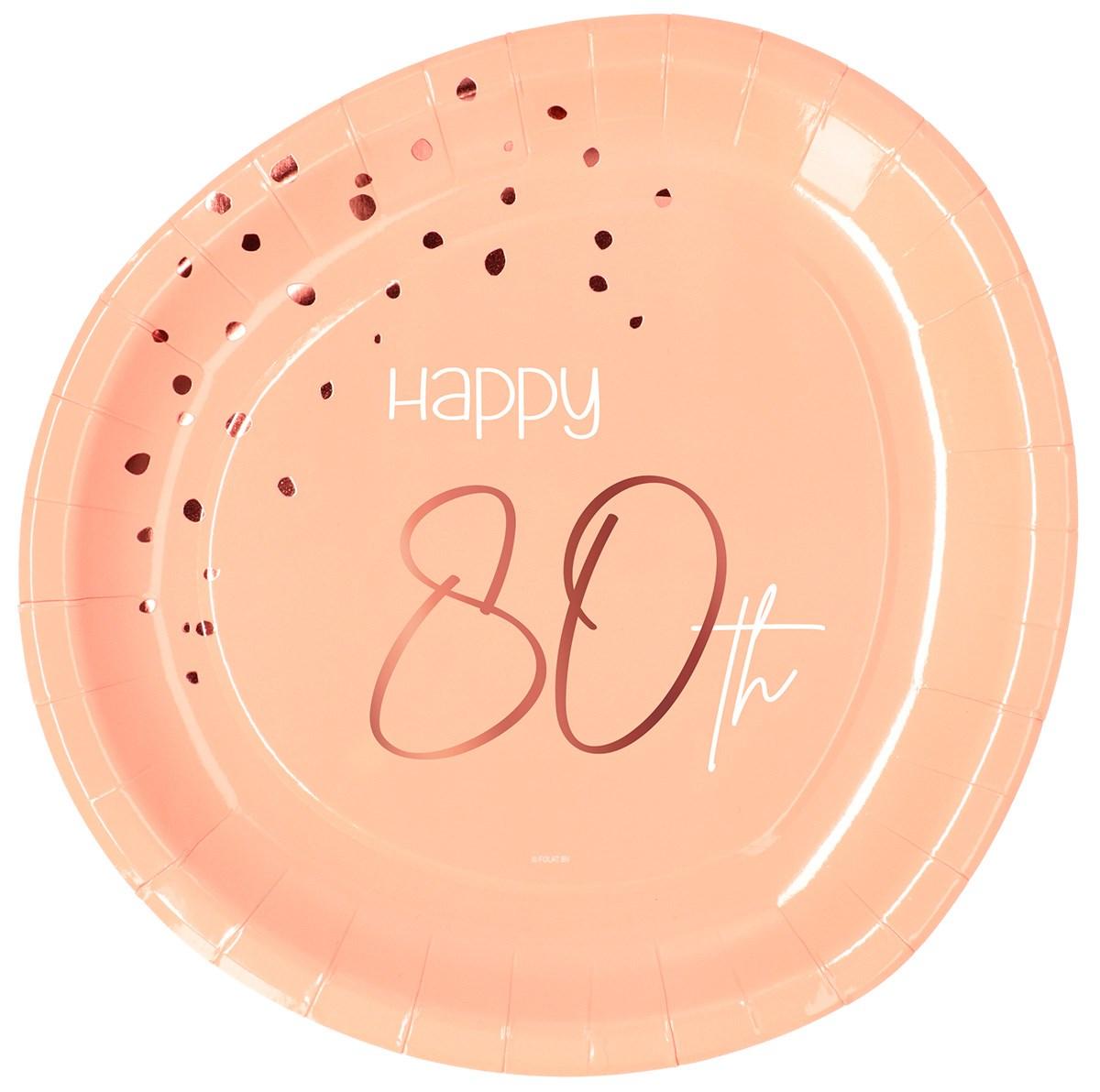 Plates Elegant Lush Blush 80 Year 23cm /8 1