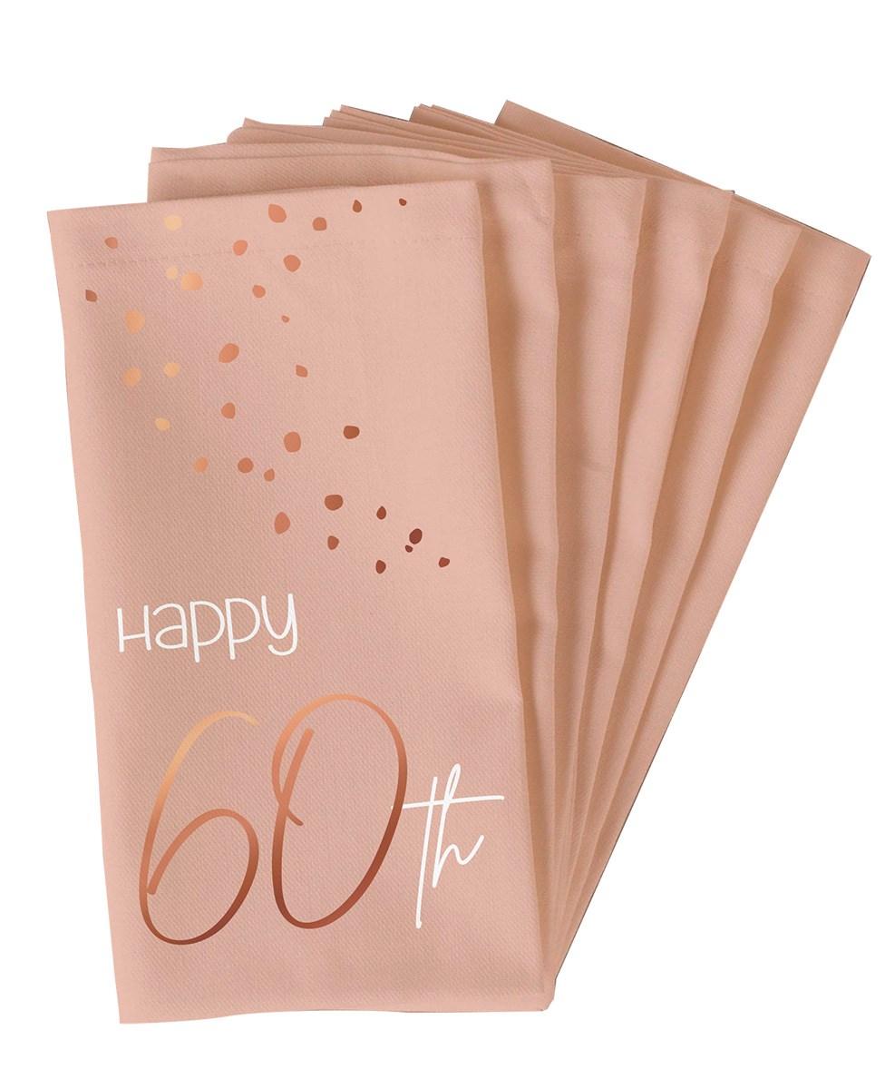 Napkins Elegant Lush Blush 60 Year 33x33cm /10 1