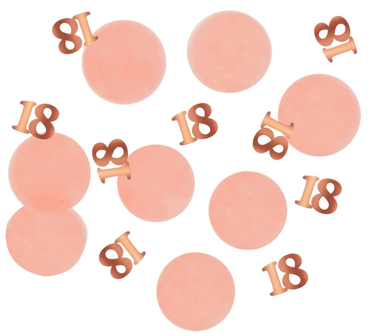 Tabledeco/confetti 18 Year Elegant Lush Blush 25gr 1