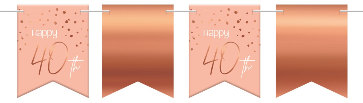 Flagbanner Elegant Lush Blush 40 Year 6m 1
