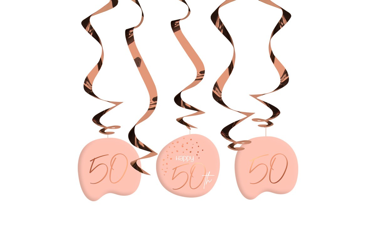 Swirl Garland Elegant Lush Blush 50 Year /5 1