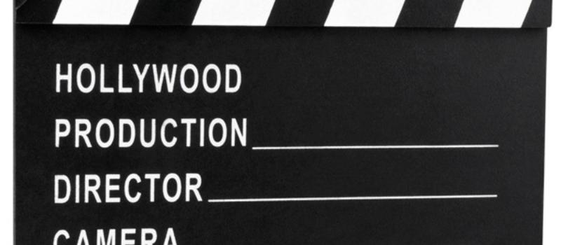 Filmklapper Hollywood 18x20 cm